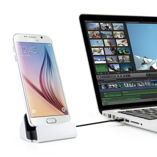 Stand incarcare telefon cu functie SYN, compatibil Android