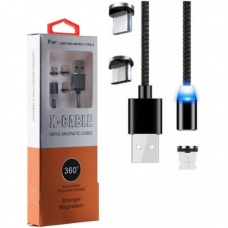 CABLU MAGNETIC 3 IN 1, USB - IPHONE , MICRO USB , TIP C