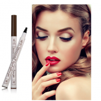 Stilou Microblading Contur Sprancene cu Efect de Fire, Marker Make-up Microblading Pen Semipermanent, Chestnut