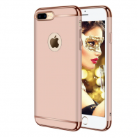 Husa telefon Apple Iphone 8 Plus ofera protectie 3in1 Ultrasubtire Lux Rose Gold Matte