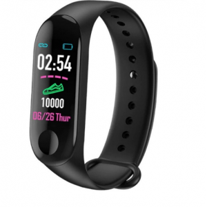 Bratara fitness smartband M3 plus, Bluetooth, OLED, IP67, ritm cardiac, notificari apeluri