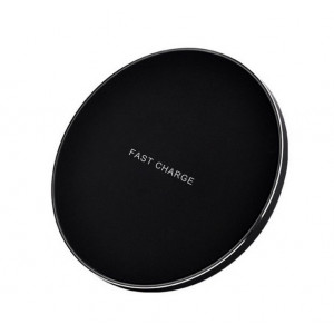 Incarcator wireless de birou, rotund, 9 cm, fast charge